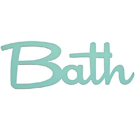 Amazon.com: Decoración de baño palabra de la tipografía ...