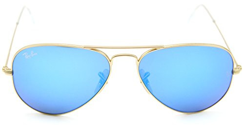Ray-Ban RB3025 AVIATOR FLASH LENSES Sunglasses Blue Mirror 112/17, ()