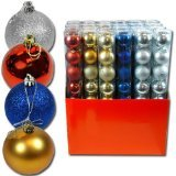 8pk Solid Colored Shatterproof 60mm Christmas Balls Ornament (Gold)