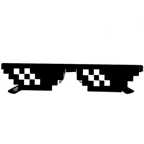 Hatop Thug Life Glasses 8 Bit Pixel Deal With IT Sunglasses Unisex Sunglasses Toy - For Old Glasses Cash