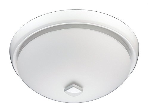 Broan 778WHNT White Glass Globe Ceiling Fan (80 CFM) For Sale