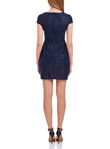 oodji Mujer Azul Vestido Encaje Ultra 7900n de fOwqfr