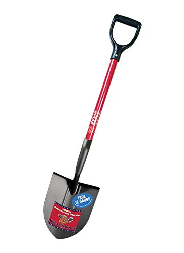 Bully Tools 92510 12-Gauge Round Point Shovel with Fiberglass D-Grip Handle ()