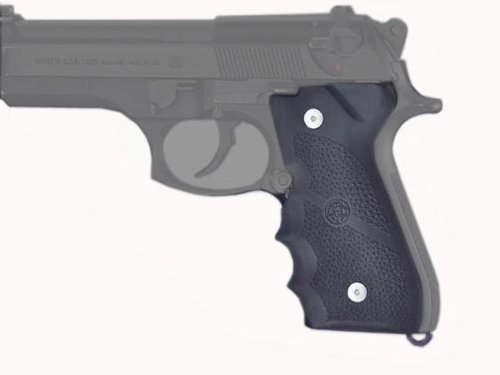 Hogue Rubber Grip Beretta 92/96 Series Grip with Finger Grooves, Outdoor Stuffs