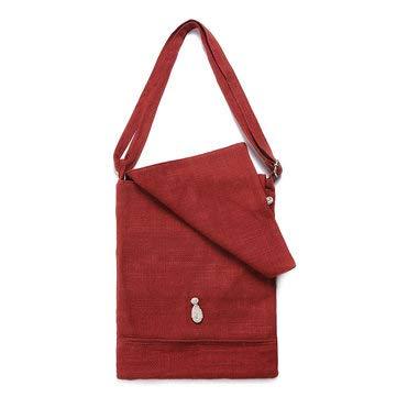 Red Women Flap Crossbody Bag Outdoor Casual Linen Shoulder Bag Womens Bags Crossbody Bags