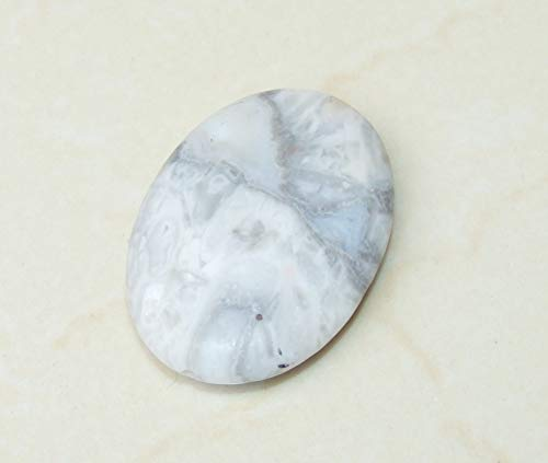 White Crazy Lace Agate Semi-Polished Oval Bead - Center Drilled - Agate Slab Bead - 35mm x 50mm Crazy Lace Agate Oval Pendant