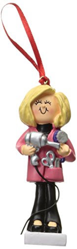 Ornament Central OC-014-FBL Female Blonde Hairdresser Figurine