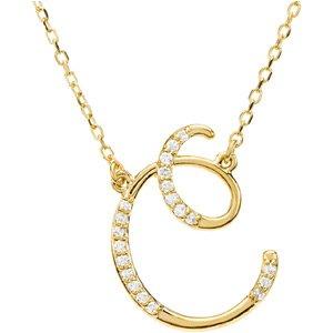 Amazon 14k yellow gold alphabet initial letter c diamond 14k yellow gold alphabet initial letter c diamond necklace 17quot gh color aloadofball Choice Image