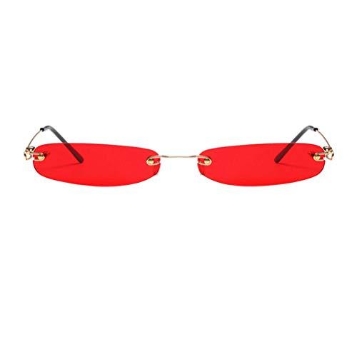 Glasses 136 (Women Small Rectangle Narrow Tiny Sunglasses UV400 Resistent Shades Eyeglasses Color Sun Glasses)