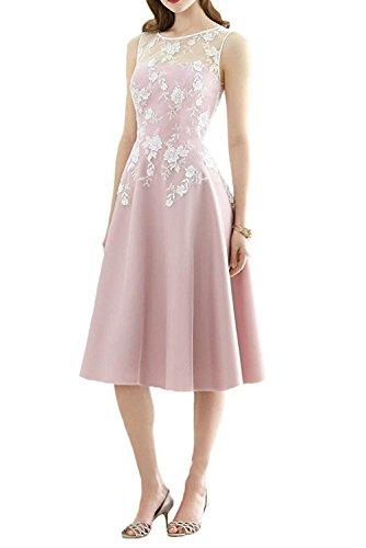 Noche de la Honor Vestido Rodilla JAEDEN la A Mujer satén de Largo hasta Fiesta Rosa Line de Dama Vestido de Vestido TUHSq