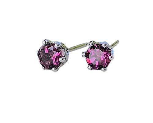 57x37mm Hollow Long Big Pink Raspberry Rhodolite Garnet CZ Party Silver Earrings