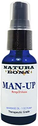 Man-up Sexual Arousal Synergy Blend for Men; Natural Moringa Oil Infused with Performance Enhancement Essential Oils; 1oz (Man-Up Pump, 1oz)