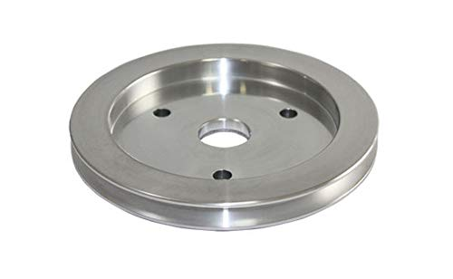 Pirate Mfg BBC Chevy 396-454 Machined Aluminum Swp Single Groove Crankshaft Pulley (Chevy Aluminum Pulley)