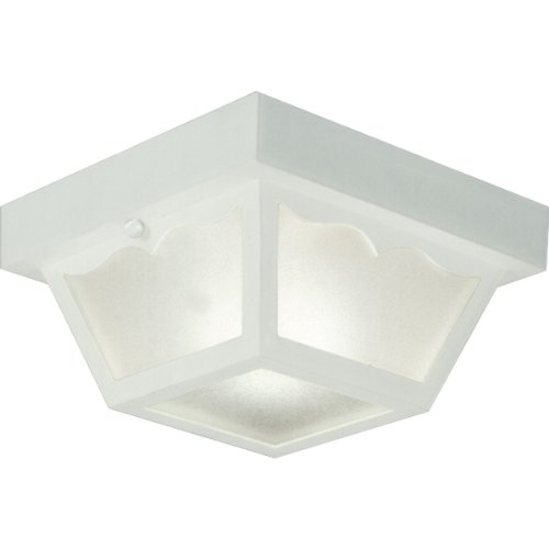 Progress Lighting P5744-30 Non-Metallic Ceiling Light with 1-Piece White Acrylic Diffuser, White (30 White Acrylic Diffuser)