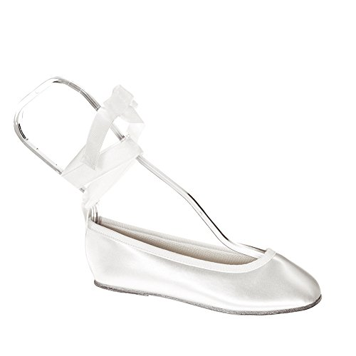 Youth White Satin (Touch Ups Girls' Gypsy Slip-on Shoes,White Satin,3 M)