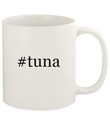 #tuna - 11oz Hashtag Ceramic White Coffee Mug Cup, White