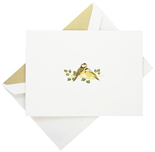 Crane & Co. Hand Engraved Love Bird Note (RF1400) ()