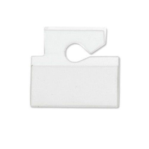 Horizontal Top Load Vinyl Hang Tag Vehicle Tag Holder 100pk MyBinding VM-3H Clear Vinyl Tag Holder Top Load