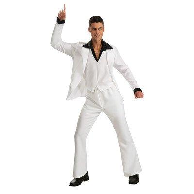 Saturday Night Fever White Suit (Saturday Night Fever Suit Costume, White,)