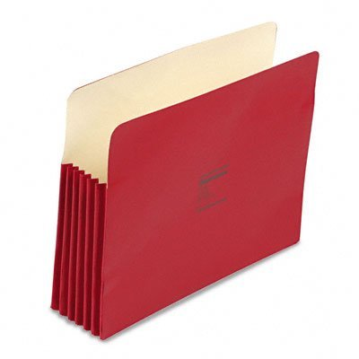 "Wilson Jones Colorlife Recycled (50%) Expanding File Pockets, Legal Size, 5-1/4"" Expansion, Red, 10/Box, WCC76R"