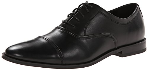 Calvin Klein Men's Nino Leather Oxford, Black, 10.5 M US by Calvin Klein