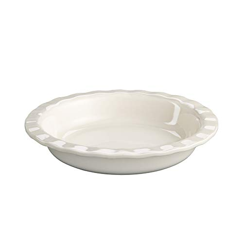 Mrs. Anderson's Baking 98063 Pie Plate, 9.5-Inches, White Ceramic