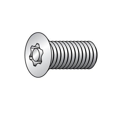 #8-32 x 1/2'' Flat Head Torx Tamper Resistant Screw, 25 pk. by Tamper-Pruf Screw (Image #1)