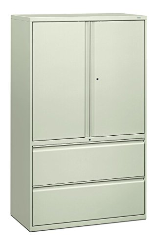 Lateral Drawer File Binder 2 (HON 895LSQ 800 Series 42-Inch Storage Cabinet with 2-Drawer Lateral File, Light Gray)