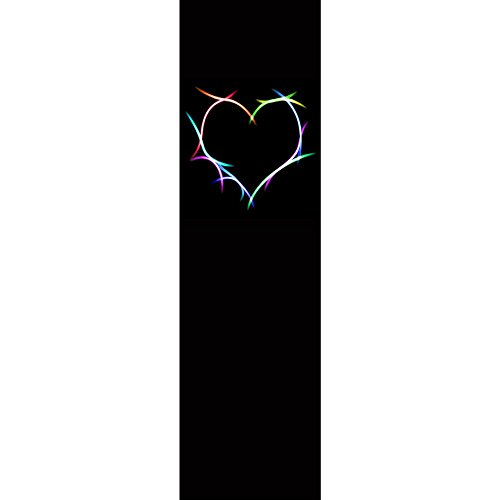Truck bed band design - High resolution vinyl graphic - Vertical stripe decal kit - RAINBOW HEARTS WISH (Kits Rainbow Heart)