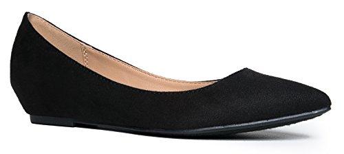 Low Wedge Heel - Cute Pointed Toe Kitten Heel - Comfortable Basic Slip On Work - Arizona Macy's