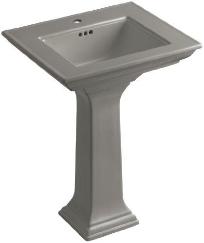 KOHLER K-2344-1-K4 Memoirs Pedestal Bathroom Sink with Stately Design and Single-Hole Faucet Drilling, Cashmere 1 K4 Cashmere Pedestal