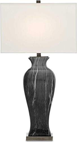 Currey & Company Table Lamp Swift Rectangular Shade Urn-Like Body Re (Lamp Rectangular Table Currey)