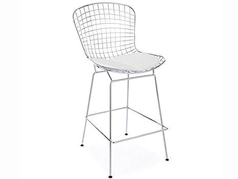 Bertoia Chaise De Bar WireCuisineamp; Maison K1JclTF