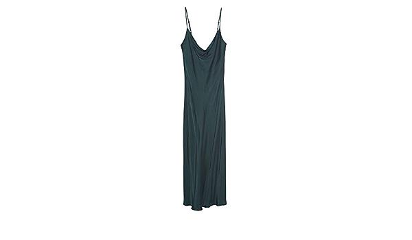 Zara 9479/251/500 Vestido de Camisa para Mujer - Verde - X ...