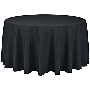Remedios 120 Inch Round Polyester Tablecloth Table Cover   Wedding  Restaurant Party Banquet Decoration, Dark Gray