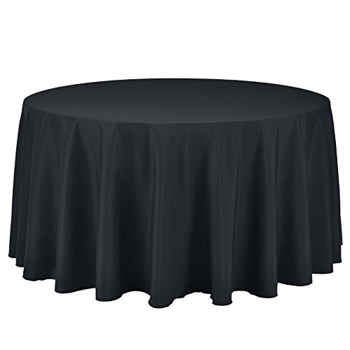 Restaurant Covers Table (Remedios Round Table Cloth 108 inch Polyester Tablecloth Table Cover for Wedding Restaurant Party Banquet Decoration, Dark Gray)