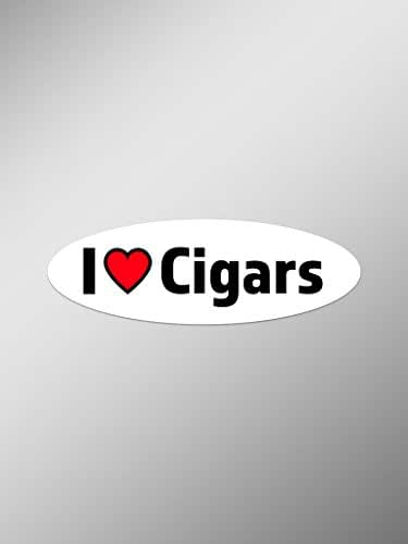 I Love Cigars Vinyl Decals Stickers (Two Pack) | Cars Trucks Vans Windows Walls Laptop Cups | Printed | 2-5.5 Inch Decals | KCD1399