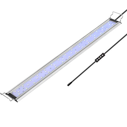 COODIA Aquarium LED Light Full Spectrum Freshwater Fish Tank Planted Lamp with Auto Timer and Dimmer