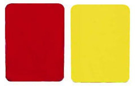 Champions Football Card - Champion Sports Referee Cards (Includes 1 red and 1 yellow referee card)