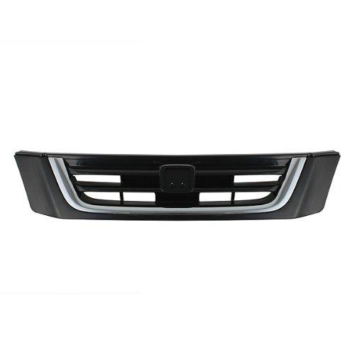 (CarPartsDepot Grill Grille Front Black Chrome Assembly Ho1200152 Ho1200152 )