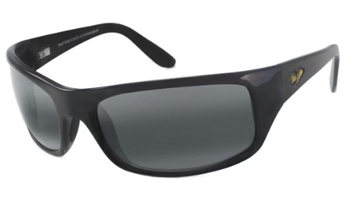 Maui Jim Peahi Polarized Sunglasses,Gloss Black Frame/Neutral Grey Lens,one size by Maui Jim