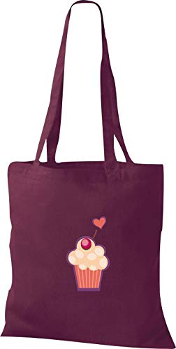 Sucrer Shirtstown Rouge Sac Motifs En Muffin Avec Bordeaux Tissu nxaZrC0x