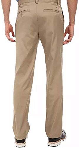 Nike Golf Tech Flat Front Dri Fit Pants in Khaki Brown (34-32)