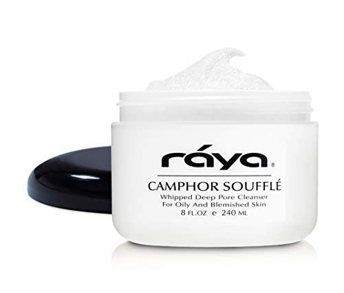 RAYA Camphor Souffl Facial Cleanser 8 oz 101 pH Balanced Face Wash for Oily, Blemished, and Break-Out Skin Helps Reduce White-Heads and Black-Heads and Clear Clogged Pores
