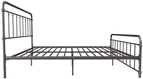 DHP Winston Metal Bed Frame, Multifunctional Piece with Adjustable Heights for Under Bed Storage, Bronze - King