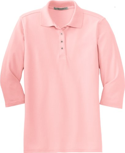 port-authority-womens-silk-touch-3-4-sleeve-sport-shirt-light-pink-x-large