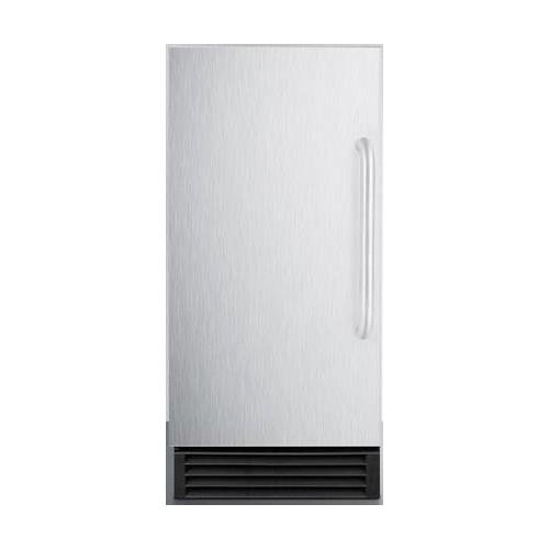 BIM44G 14.5'''' Commercial Ice Maker with Energy Star Automatic Defrost Reversible Door 25 lbs. Storage Capacity 50 lbs. Daily Production Internal Pump and Clear Ice Cubes: Stainless Steel