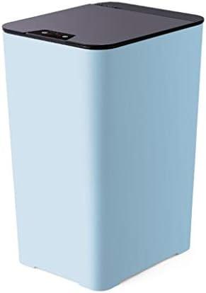 HUA スマートセンサのゴミ箱は、ふたの自動ゴミ箱と一緒に家ことができ大 (Color : Blue)