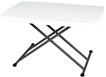 Perfect 2.5FT Rectangular Height Adjustable Folding Table Perfect TV/ Reading/  Laptop Table