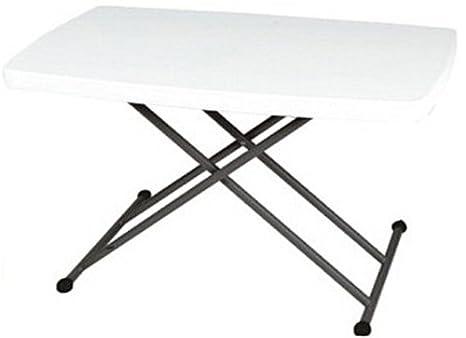 Tables Ajustable M Rectangular Altura Folding Uk Plegable Mesa 2 5 n0PkwO8